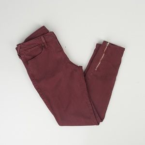 Just Black Cranberry Skinny Ankle Zipper Jeans 28